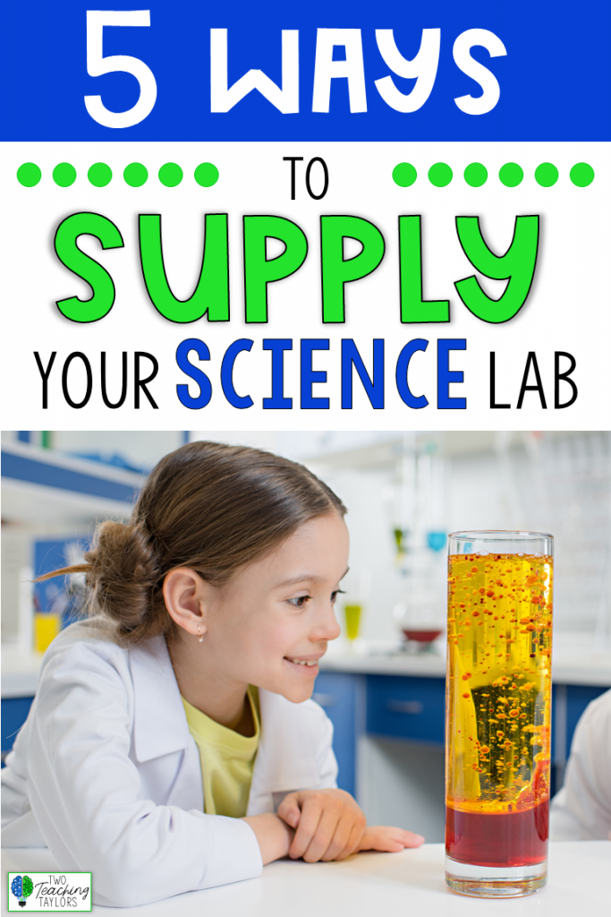 Is your science lab running low on supplies for your students' investigations? Use these FIVE ideas to completely restock your school science lab!