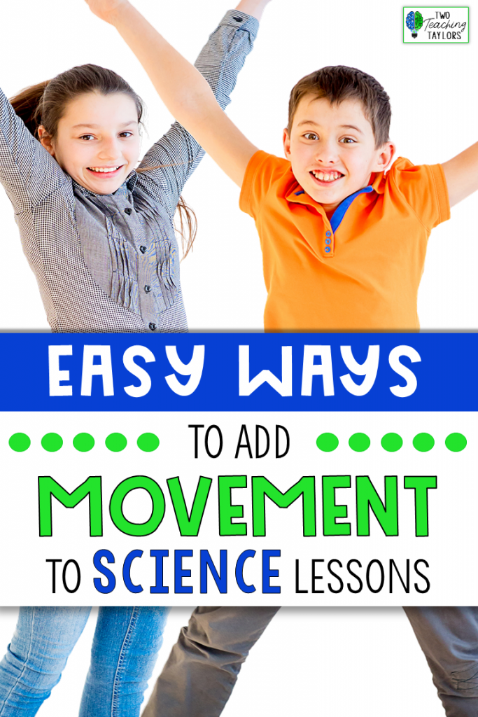 blog cover for Easy Ways to Add Movement to Science Class