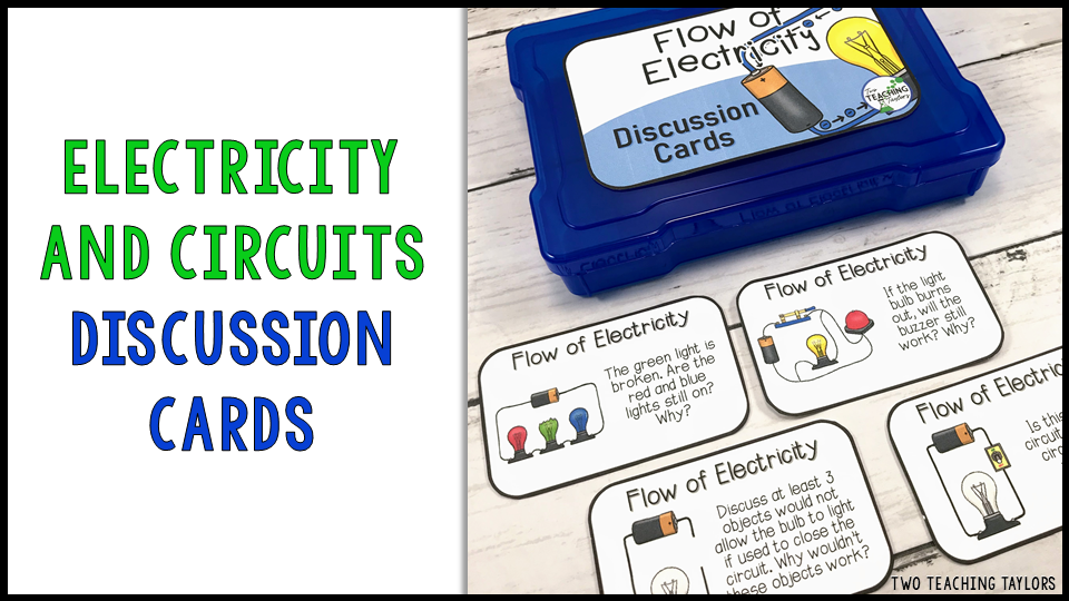 Peer discussions are a great tool for building content mastery. These discussion cards provide students the opportunity to interact with their peers and to move around the classroom.  Students work collaboratively to discuss how electricity flows through different types of electrical circuits, including series circuits and parallel circuits.