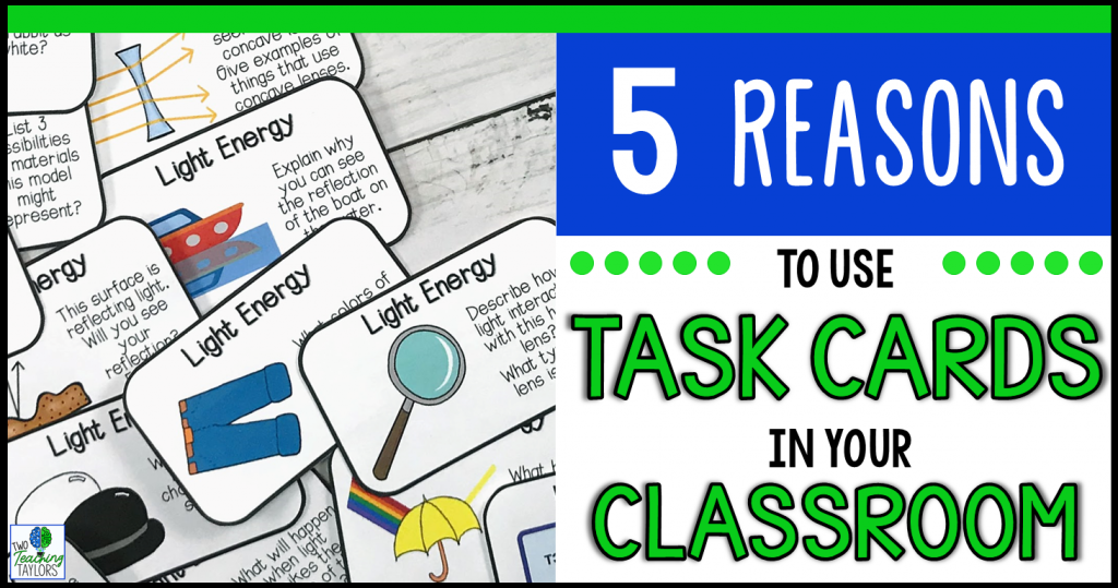 Why Using Task Cards is Better Than a Work Sheet.