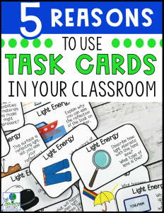Five reasons to use task cards in your classroom