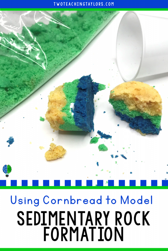 Sedimentary Rock Formation Model with Cornbread