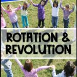 lesson ideas for teaching rotation and revolution pin images