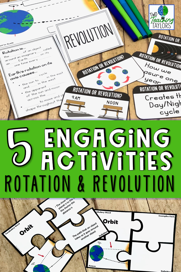 5 engaging resources for teaching about rotation and revolution