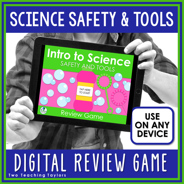 Cover image Science Safety and Tools Digital Review Game