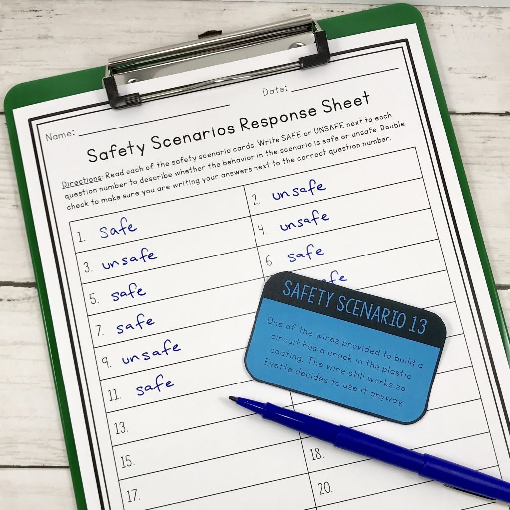 sorting assignment for safety