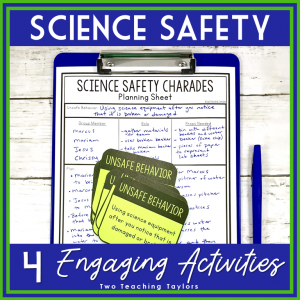 resource cover for science safety activities