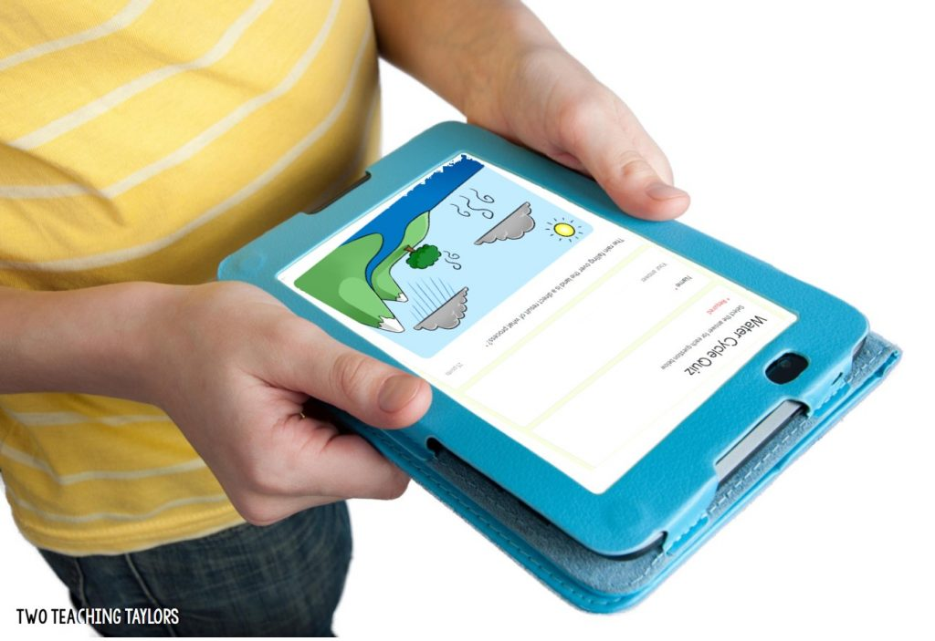 boy holding tablet with assessment