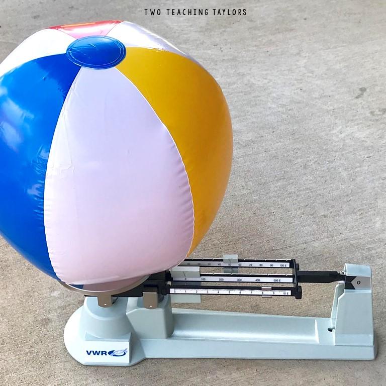 mass of a beach ball