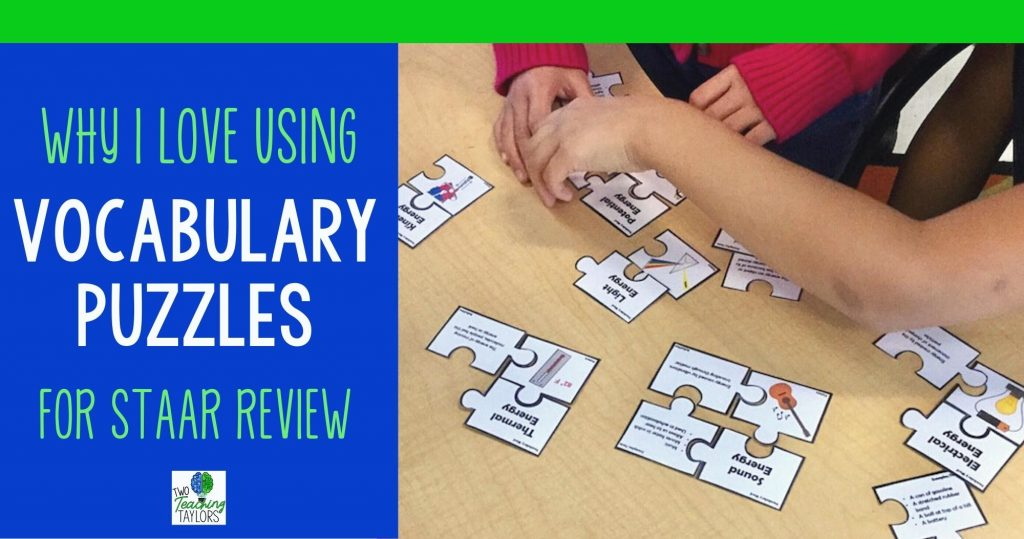 Blog title image for Why I love using vocabulary puzzles for STAAR review